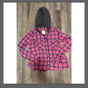 Abercrombie & Fitch hooded flannel size small